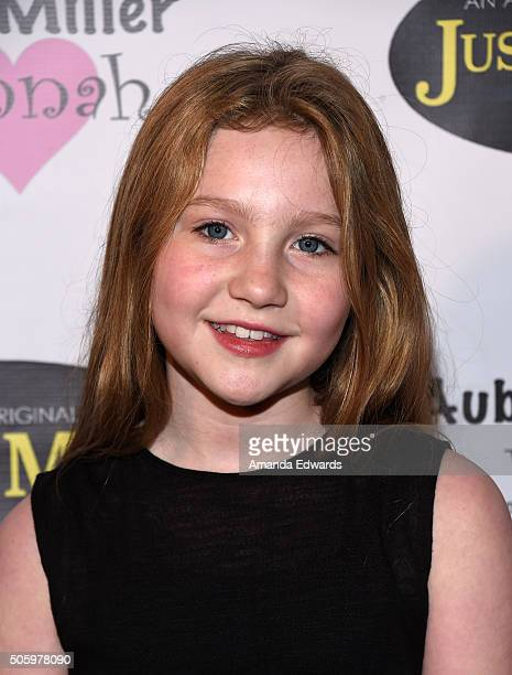 Actress Ella Anderson arrives at a private screening of Amazon's 'Just Add Magic' at the Chaplin Theater at Raleigh Studios on January 20 2016 in...