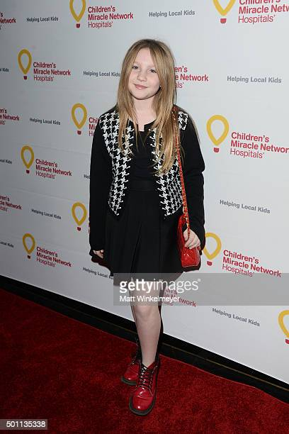 Actress Ella Anderson arrives at Children's Miracle Network Hospitals' Winter Wonderland Ball at Avalon on December 12 2015 in Hollywood California