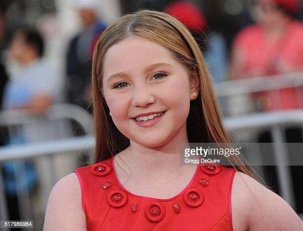 Actress Ella Anderson arrives at the premiere of USA Pictures' 'The Boss' at Regency Village Theatre on March 28 2016 in Westwood California