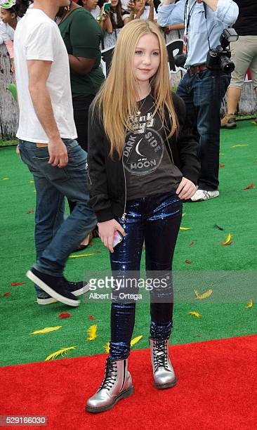 Actress Ella Anderson arrives for the Premiere Of Sony Pictures' 'Angry Birds' held at Regency Village Theatre on May 7 2016 in Westwood California