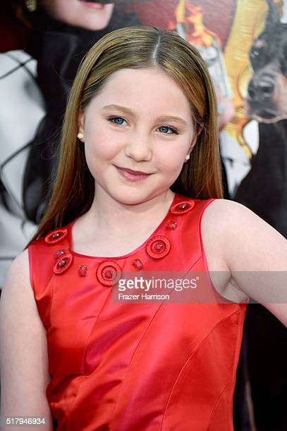 Actress Ella Anderson attends the premiere of USA Pictures' 'The Boss' at Regency Village Theatre on March 28 2016 in Westwood California