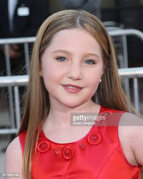 Actress Ella Anderson attends the premiere of USA Pictures' 'The Boss' at the Regency Village Theatre on March 28 2016 in Westwood California