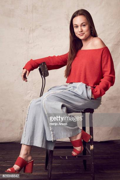 Actress Ella Ballentine of PBS's 'Anne of Green Gables The Good Stars' poses for a portrait during the 2017 Summer Television Critics Association...