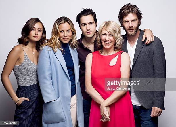 Actress Ella Purnell actress and producer Maria Bello actor Ben Schnetzer director Bronwen Hughes and actor Sam Hazeltine from the film Journey is...