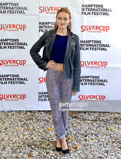 Actress Ella Purnell attends the Chairmans Reception during the 2014 Hamptons International Film Festival on October 11 2014 in East Hampton New York