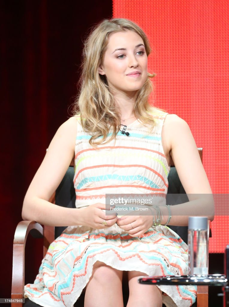 Actress Ella Rae Peck speaks onstage during the 'Welcome to the Family' panel discussion at the NBC portion of the 2013 Summer Television Critics Association tour - Day 4 at the Beverly Hilton Hotel on July 27, 2013 in Beverly Hills, California.