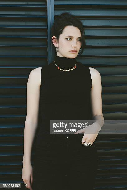 Actress Ella Rumpf poses during a portrait session on May 15 2016 in Cannes France
