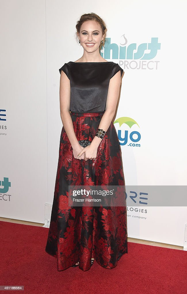 Actress <a gi-track='captionPersonalityLinkClicked' href=/galleries/search?phrase=Ella+Wahlestedt&family=editorial&specificpeople=9725143 ng-click='$event.stopPropagation()'>Ella Wahlestedt</a> arrives at the 5th Annual Thirst Gala Hosted By Jennifer Garner In Partnership With Skyo And Relativity's 'Earth To Echo' at The Beverly Hilton Hotel on June 24, 2014 in Beverly Hills, California.