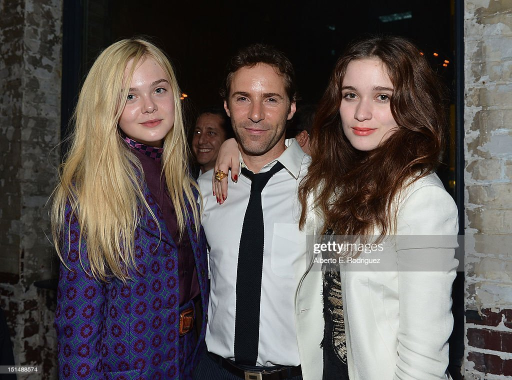 Actress Elle Fanning, Actor Alessandro Nivola and Alice Englert attend the 'Ginger & Rosa' post premiere reception during 2012 Toronto International Film Festival held at the AMC Storys on September 7, 2012 in Toronto, Canada.