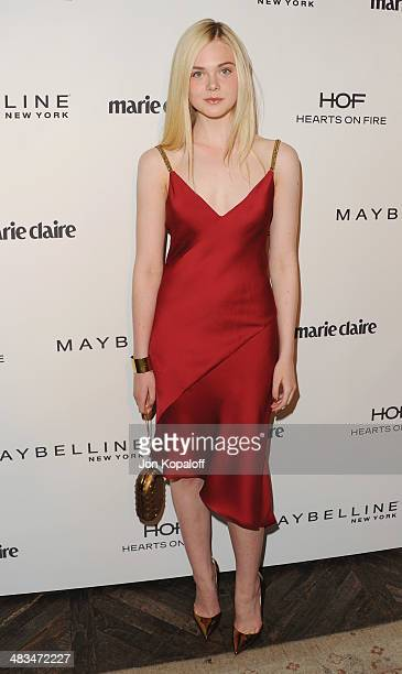 Actress Elle Fanning arrives at Marie Claire's Fresh Faces Party at Soho House on April 8 2014 in West Hollywood California