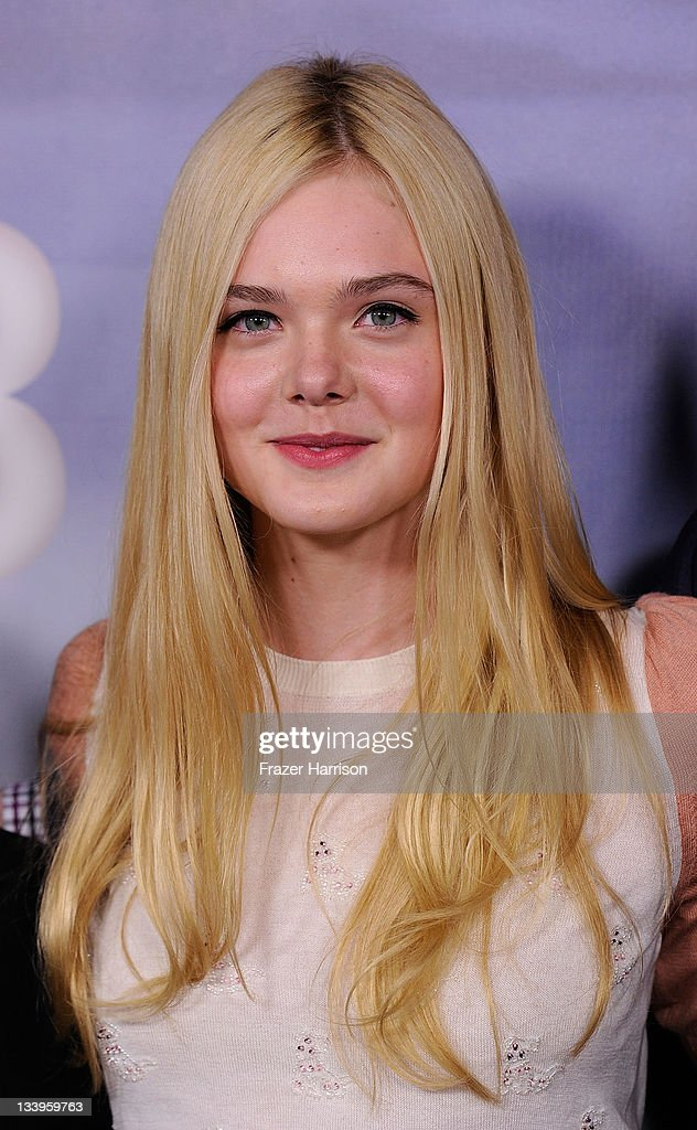 Actress Elle Fanning arrives at Paramount Pictures' 'Super 8' Blu-ray and DVD release party at AMPAS Samuel Goldwyn Theater on November 22, 2011 in Beverly Hills, California.