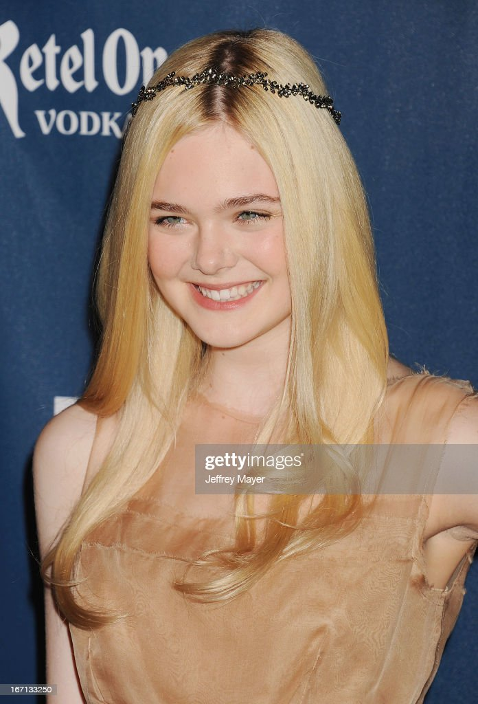 Actress <a gi-track='captionPersonalityLinkClicked' href=/galleries/search?phrase=Elle+Fanning&family=editorial&specificpeople=2189940 ng-click='$event.stopPropagation()'>Elle Fanning</a> arrives at the 24th Annual GLAAD Media Awards at JW Marriott Los Angeles at L.A. LIVE on April 20, 2013 in Los Angeles, California.