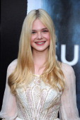 Actress Elle Fanning arrives at the premiere of Paramount Pictures' 'Super 8' at Regency Village Theatre on June 8 2011 in Westwood California