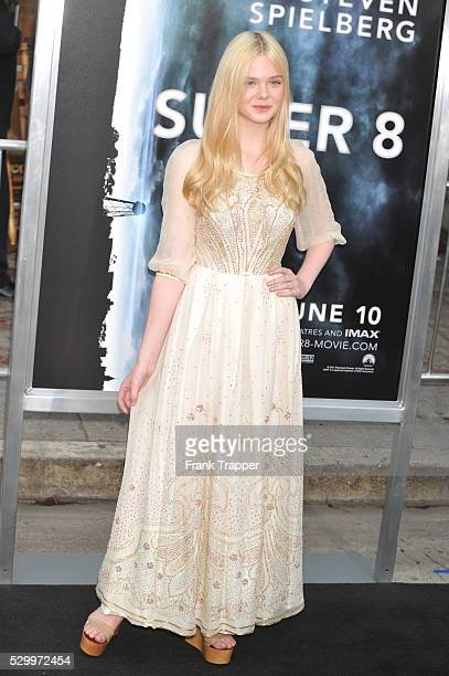 Actress Elle Fanning arrives at the Premiere of Paramount Pictures' 'Super 8' held at the Regency Village Theater in Westwood