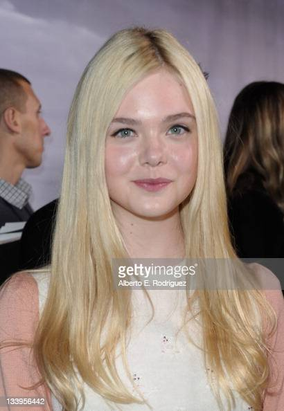 Actress Elle Fanning arrives to Paramount Pictures' 'Super 8' Bluray and DVD release party at AMPAS Samuel Goldwyn Theater on November 22 2011 in...
