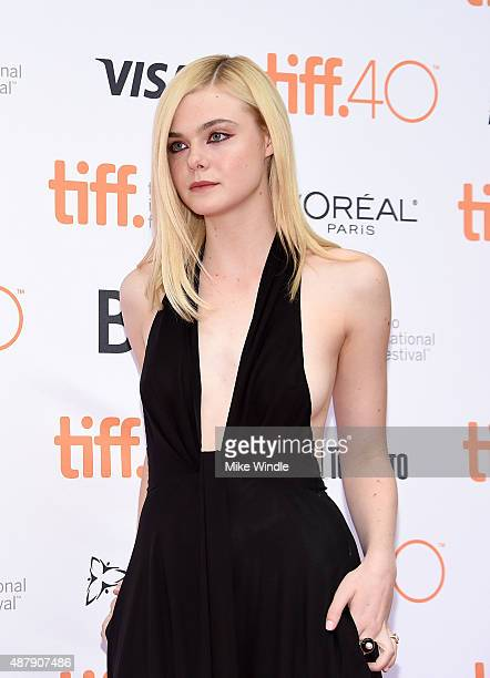 Actress Elle Fanning at the premiere of ABOUT RAY in Toronto hosted Audi and Piper Heidsieck with Entertainment One and The Weinstein Company on...