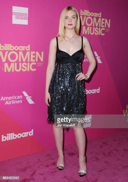 Actress Elle Fanning attends Billboard Women In Music 2017 at The Ray Dolby Ballroom at Hollywood Highland Center on November 30 2017 in Hollywood...