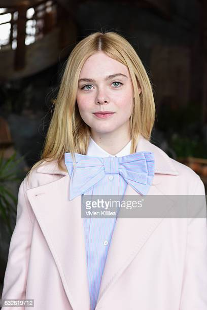 Actress Elle Fanning attends Lunch Celebrating Films Powered By Women Hosted By Glamour's Cindi Leive And Girlgaze's Amanda de Cadenet During...