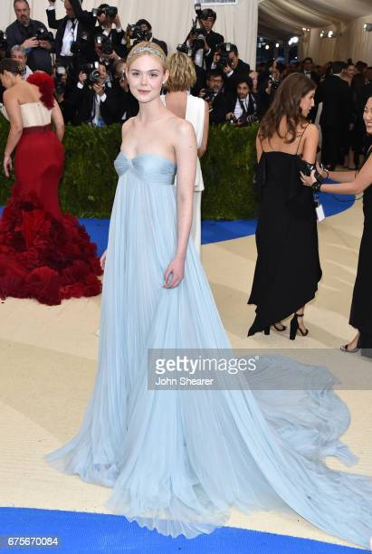 Actress Elle Fanning attends 'Rei Kawakubo/Comme des Garcons Art Of The InBetween' Costume Institute Gala at Metropolitan Museum of Art on May 1 2017...