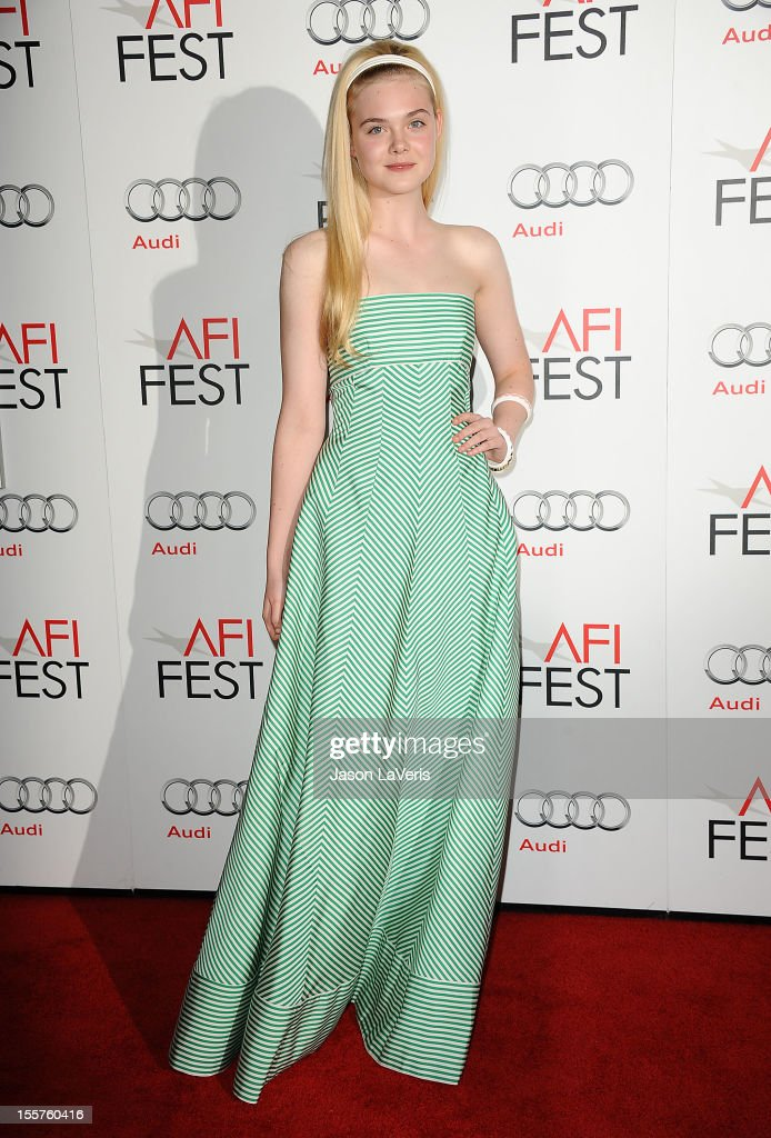Actress Elle Fanning attends the 2012 AFI Fest premiere of 'Ginger & Rosa' at Grauman's Chinese Theatre on November 7, 2012 in Hollywood, California.
