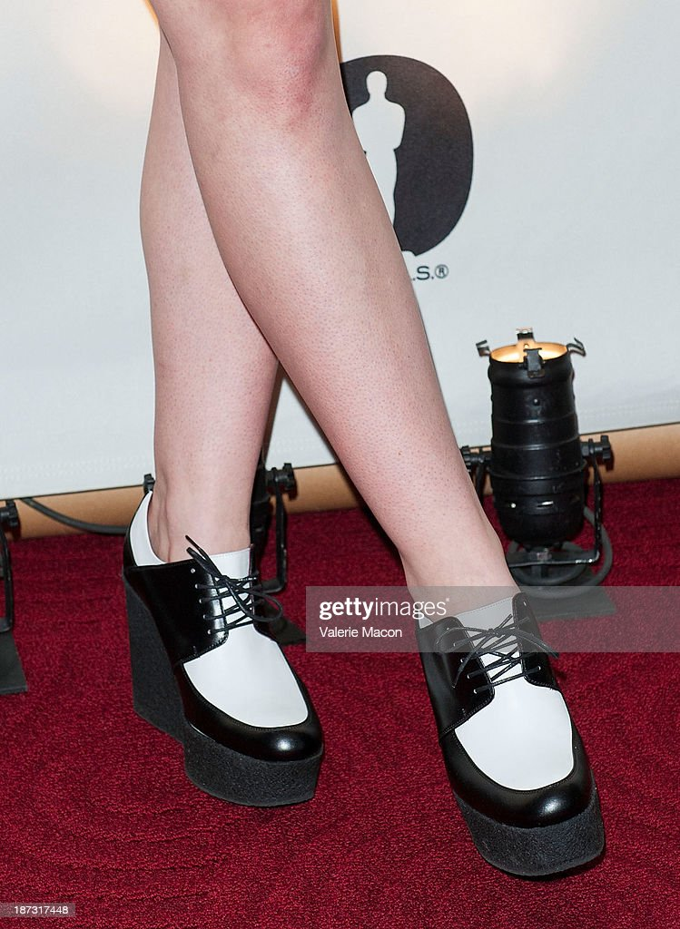 Actress Elle Fanning attends The Academy Of Motion Picture Arts And Sciences' Hosts The Academy Nicholl Fellowships In Screenwriting Awards at AMPAS Samuel Goldwyn Theater on November 7, 2013 in Beverly Hills, California.
