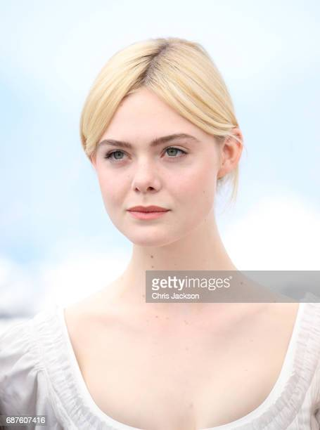 Actress Elle Fanning attends 'The Beguiled' photocall during the 70th annual Cannes Film Festival at Palais des Festivals on May 24 2017 in Cannes...