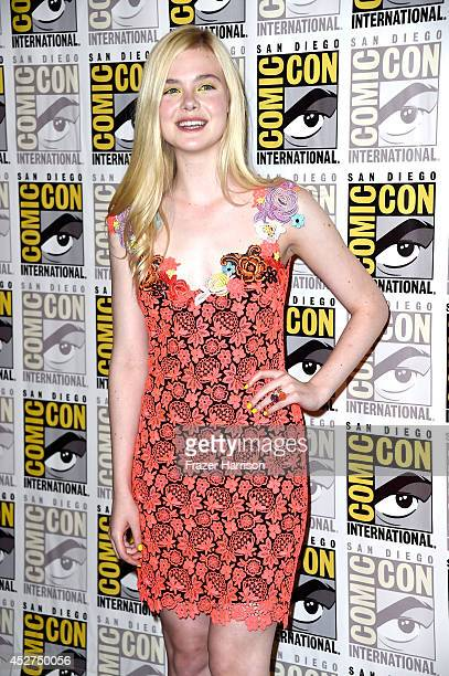 Actress Elle Fanning attends 'The Boxtrolls' Press Line during ComicCon International 2014 at Hilton Bayfront on July 26 2014 in San Diego California