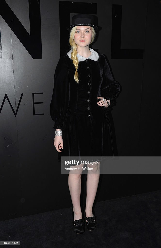 Actress Elle Fanning attends the celebration of CHANEL FINE JEWELRY'S 80th anniversary of the 'Bijoux De Diamants' collection created by Gabrielle Chanel on October 9, 2012 in New York City.