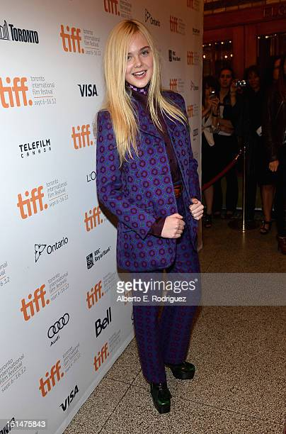 Actress Elle Fanning attends the 'Ginger Rosa' premiere during the 2012 Toronto International Film Festival at the The Elgin on September 7 2012 in...