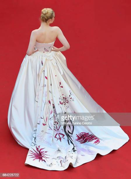 Actress Elle Fanning attends the 'Ismael's Ghosts ' screening and Opening Gala during the Opening Ceremony of the 70th annual Cannes Film Festival at...