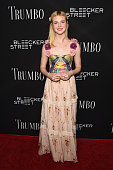 Actress Elle Fanning attends the premiere of Bleecker Street Media's 'Trumbo' at Samuel Goldwyn Theater on October 27 2015 in Beverly Hills California