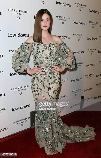 Actress Elle Fanning attends the Premiere of Oscilloscope Laboratories' 'Lowdown' at ArcLight Hollywood on October 23 2014 in Hollywood California
