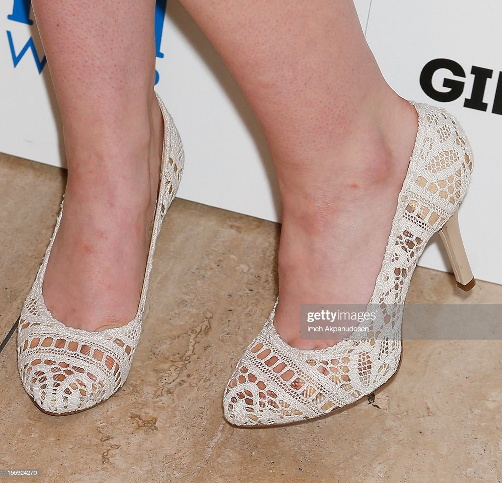 Actress Elle Fanning (shoe detail) attends the screening of A24 Films' 'Ginger & Rosa' at The Paley Center for Media on November 8, 2012 in Beverly Hills, California.