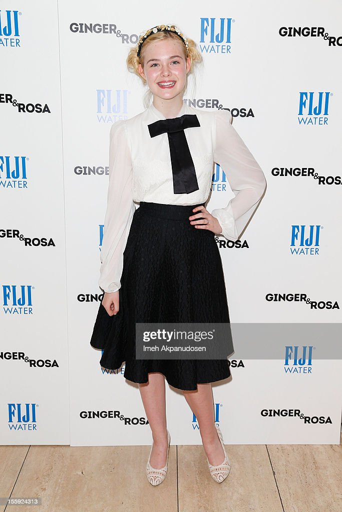 Actress <a gi-track='captionPersonalityLinkClicked' href=/galleries/search?phrase=Elle+Fanning&family=editorial&specificpeople=2189940 ng-click='$event.stopPropagation()'>Elle Fanning</a> attends the screening of A24 Films' 'Ginger & Rosa' at The Paley Center for Media on November 8, 2012 in Beverly Hills, California.