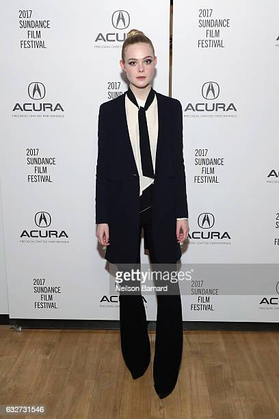 Actress Elle Fanning attends the 'Sidney Hall' Party at the Acura Studio at Sundance Film Festival 2017 on January 25 2017 in Park City Utah