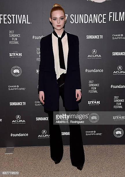 Actress Elle Fanning attends the 'Sidney Hall' Premiere 2017 Sundance Film Festival at Eccles Center Theatre on January 25 2017 in Park City Utah