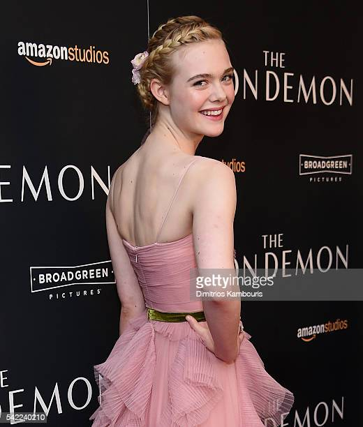 Actress Elle Fanning attends the 'The Neon Demon' New York Premiere at Metrograph on June 22 2016 in New York City