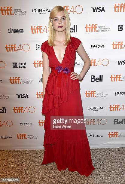 Actress Elle Fanning attends the 'Trumbo' premiere during the 2015 Toronto International Film Festival at The Elgin on September 12 2015 in Toronto...