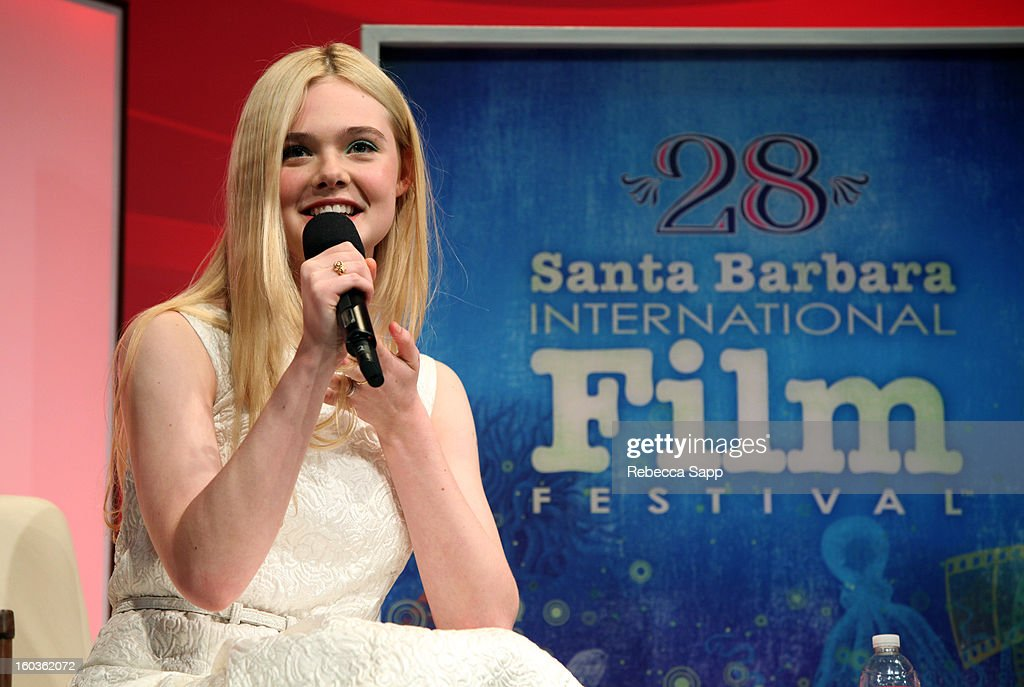Actress Elle Fanning attends the Virtuosos Awards at the 28th Santa Barbara International Film Festival on January 29, 2013 in Santa Barbara, California.
