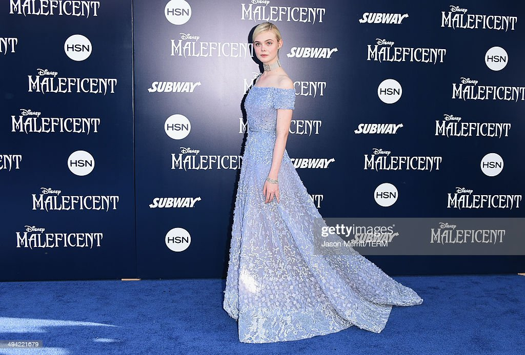 Actress Elle Fanning attends the World Premiere of Disney's 'Maleficent' at the El Capitan Theatre on May 28, 2014 in Hollywood, California.