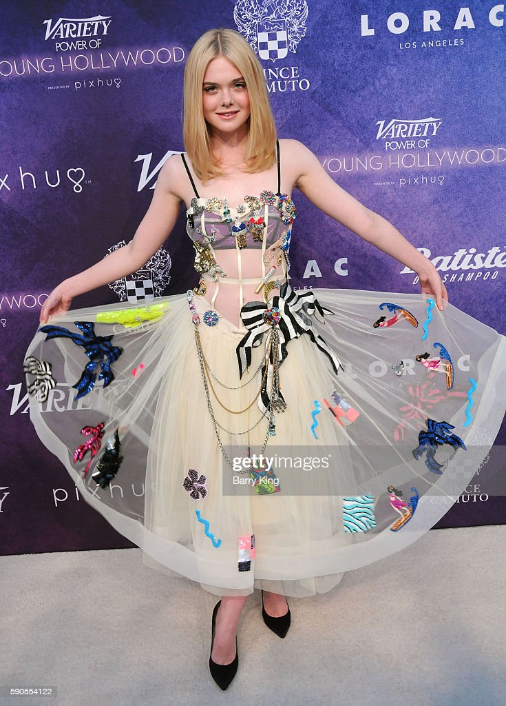 Actress Elle Fanning attends Variety's Power of Young Hollywood event at NeueHouse Hollywood on August 16, 2016 in Los Angeles, California.