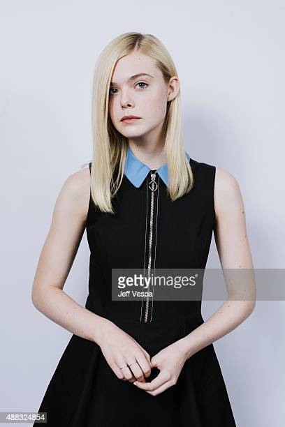 Actress Elle Fanning from 'About Ray' poses for a portrait at the 2015 Toronto Film Festival at the TIFF Bell Lightbox on September 15 2015 in...