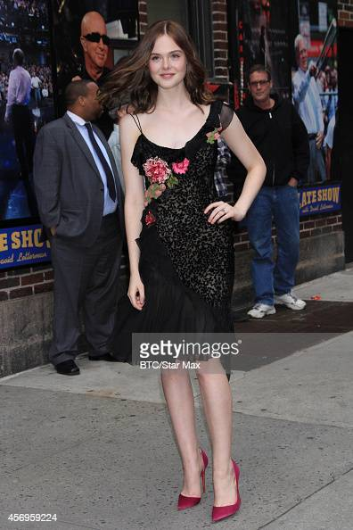 Actress Elle Fanning is seen on October 9 2014 in New York City
