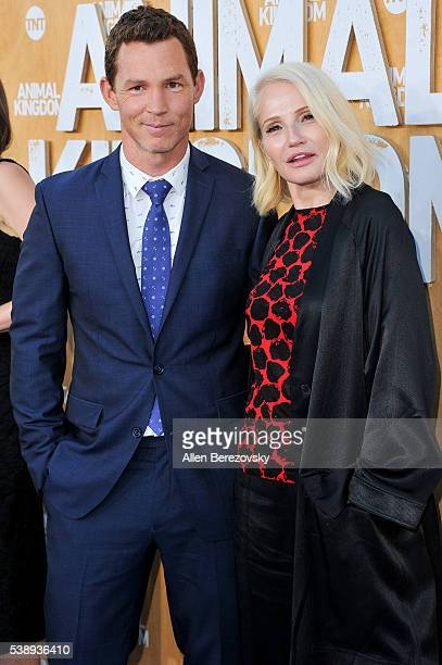 Actress Ellen Barkin and actor Shawn Hatosy attend the premiere of TNT's 'Animal Kingdom' at The Rose Room on June 8 2016 in Venice California