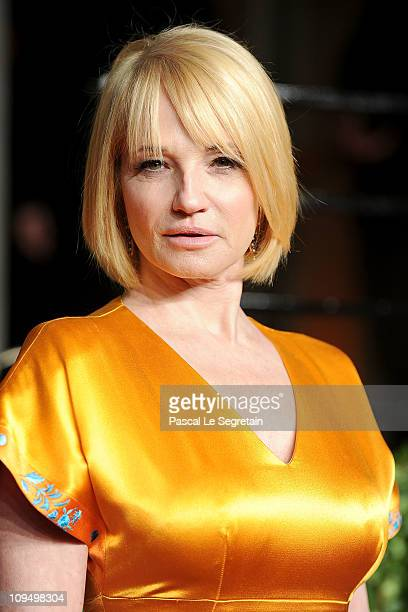 Actress Ellen Barkin arrives at the Vanity Fair Oscar party hosted by Graydon Carter held at Sunset Tower on February 27 2011 in West Hollywood...