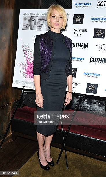 Actress Ellen Barkin attends an after party for the movie 'Another Happy Day' hosted by Gotham Magazine at The Vault at Pfaff's on November 2 2011 in...