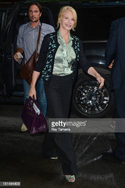 Actress Ellen Barkin enters the 'Live With Kelly And Michael' taping at the ABC Lincoln Center Studios on September 7 2012 in New York City