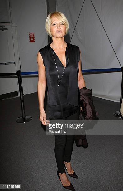 Actress Ellen Barkin seen around MercedesBenz Fashion Week Spring 2008 at Bryant Park on September 9 2007 in New York City