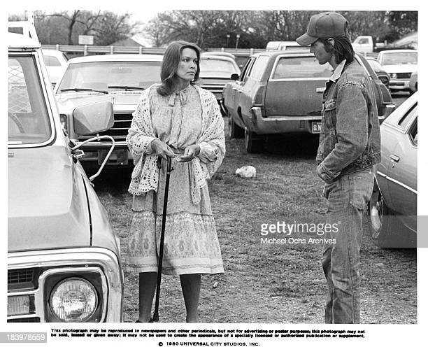 Actress Ellen Burstyn and actor Sam Shepard on set of the Universal Studio movie 'Resurrection' in 1980