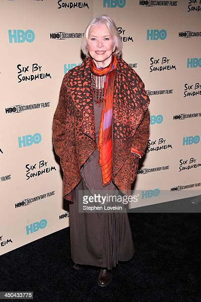Actress Ellen Burstyn attends HBO's New York Premiere of 'Six by Sondheim' at Museum of Modern Art on November 18 2013 in New York City